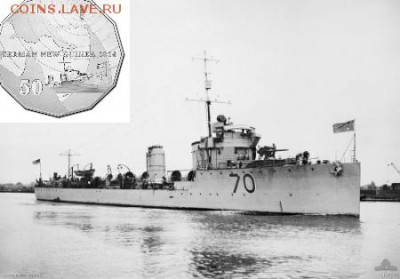 Монеты с Корабликами - HMAS_Warrego