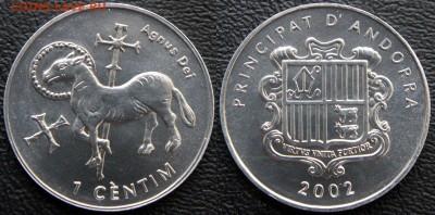 Христианство на монетах и жетонах - Андорра, 1 сентим, 2002, Al