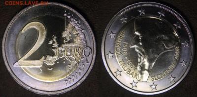 Христианство на монетах и жетонах - Словения, 2 евро 2008, 500 лет со дня рожд Приможа Трубара
