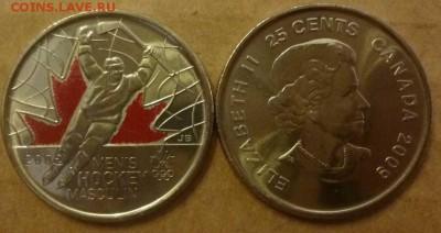 Хоккей на монетах - Канада 25 центов Хоккей 2010