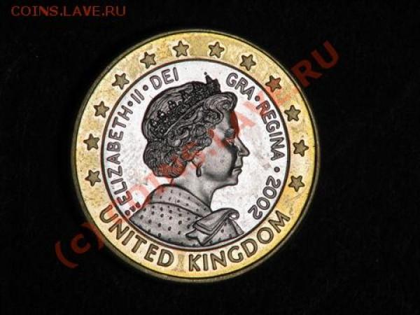Великобритания 1 евро 2002 - евро2