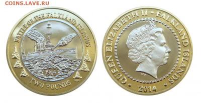 Биметаллические монеты Мира_новинки - Фолкленды_2 фунта_2014_на Форум