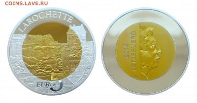 Биметаллические монеты Мира_новинки - Люксембург_5 евро_2014_Замок Ларошет_Форум
