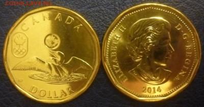 Олимпийские игры. - Канада 1 доллар Олимпиада Сочи.JPG