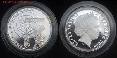 КИНЕМАТОГРАФ на монетах и жетонах - 50 лет ТВ Австралии, 1 $, 2006