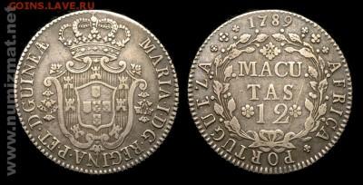 Португальские колониии. - 2299_angola_12macutas_1789