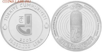Монеты на IT-тематику - Турция 10000000 лир 2002