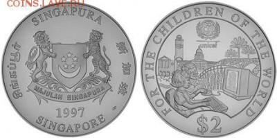 Монеты на IT-тематику - Сингапур 2 доллара 1997