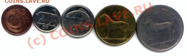 L5 Набор Ирландия животные  до 1996г. 5 шт,  до 28.04 в22.00 - L5 Ireland -1