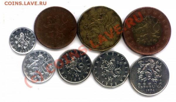 L8 Набор монет Чехии 8 шт. до 28.04 в 22.00 - L8 Czech - 2