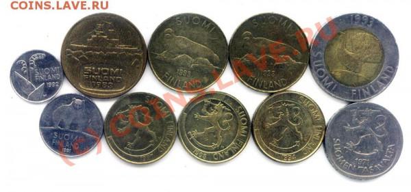 L15 Набор монет Финляндии 10 шт. до 01.05 в 22.00 - L15 Finland -1