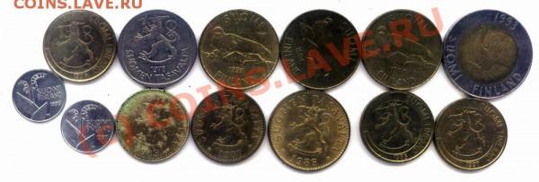 L24 Набор монет Финляндии 13 шт. до 01.05 в 22.00 - L24 Finland -2