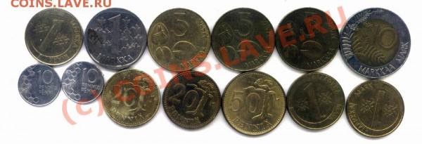 L24 Набор монет Финляндии 13 шт. до 01.05 в 22.00 - L24 Finland -1