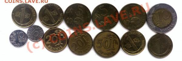 L25 Набор монет Финляндии 13 шт. до 01.05 в 22.00 - L25 Finland -1