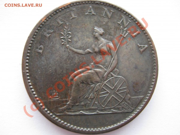 БРИТАНИЯ полпенни 1807г. Георг III - Изображение 2923