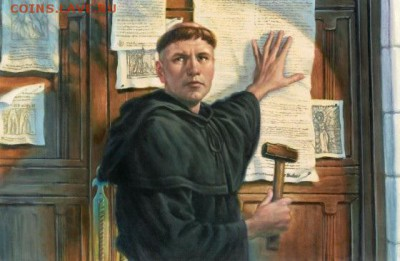 Христианство на монетах и жетонах - 95 тезисов - День Реформации