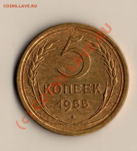 СССР 5копеек 1955год хорошая  до 03.05.10. в 19.00мск - сканирование0013