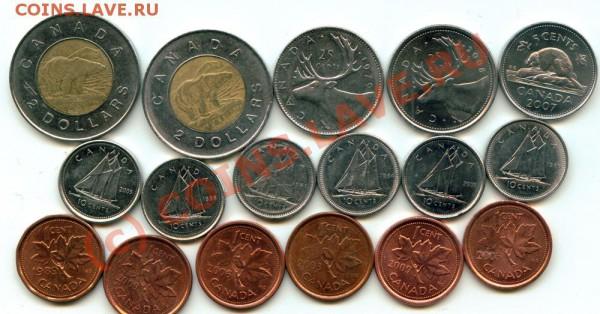 L31 Набор монет Канады 17 шт. до 03.05 в 22.00 - L31 Canada -1
