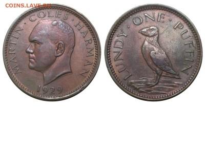 Английские токены. - Ланди - 1 паффин 1929