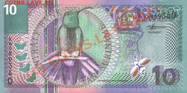 Животные на банкнотах - 10-2000a