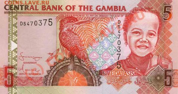 Животные на банкнотах - Gambia-2006-5GMD-obs