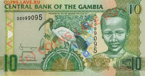 Животные на банкнотах - Gambia-2006-10GMD-obs