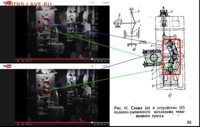Схема коленно-рычажного механизма чеканочного пресса. - Схема  чеканочного пресса.2.1
