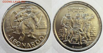 КИНЕМАТОГРАФ на монетах и жетонах - Leonardo - жетон