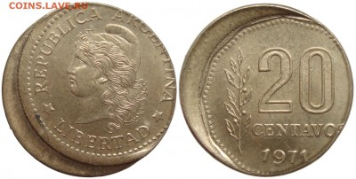 Бракованные монеты - 20cent_1971_descentrada
