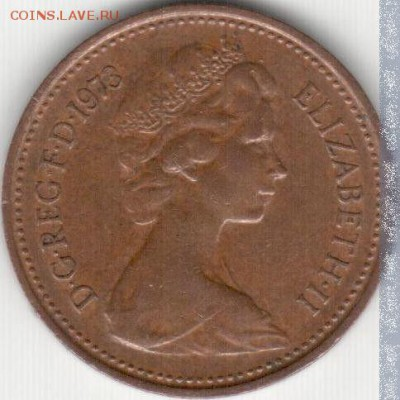 девственный пенни - united_kingdom_1_british_new_penny_1973
