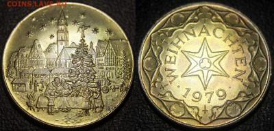 Христианство на монетах и жетонах - Жетон Weihnachten (1979)