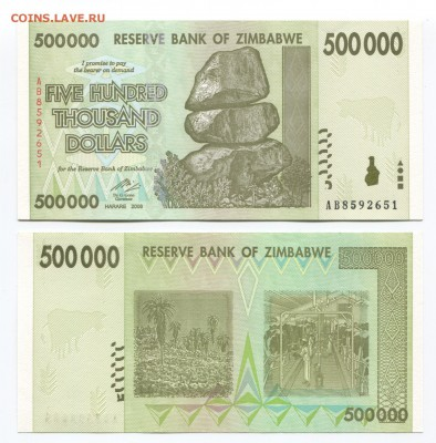 Банкноты мира (UNC) - Zimbabwe p76