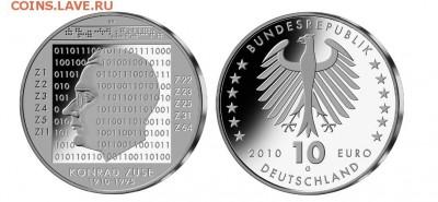 Монеты на IT-тематику - silber_2010_10_euro_konrad_zuse
