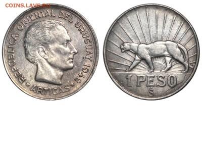 Уругвай. - Уругвай - 1 песо 1942 S