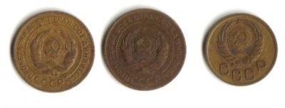 Помогите в оценке : 3 коп 1939 , 5 коп 1926 , 5 коп 1928 - лот 1
