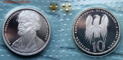 Христианство на монетах и жетонах - МЕЛАНХТОН, 10 марок, ФРГ