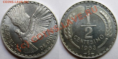 Чили. - medio centesimo 1963