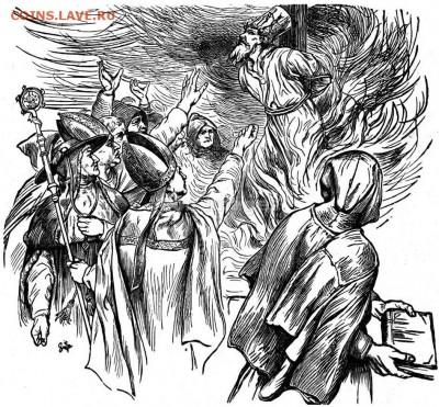 Христианство на монетах и жетонах - Казнь Яна Гуса