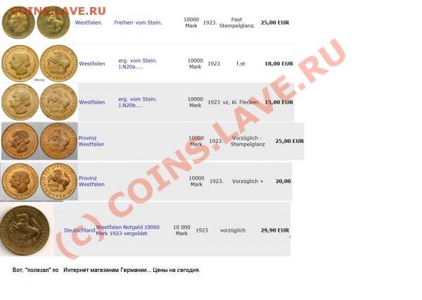 10000 марок 1923год - !