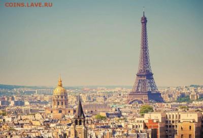 КИНЕМАТОГРАФ на монетах и жетонах - Эйфелева-башня-визитная-карточка-Парижа