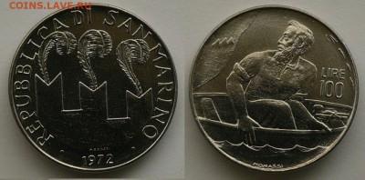 Христианство на монетах и жетонах - сан марино.JPG