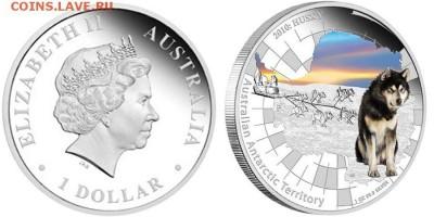 Монеты с изображением собак. - 2010-Husky-Silver-Proof-Coin