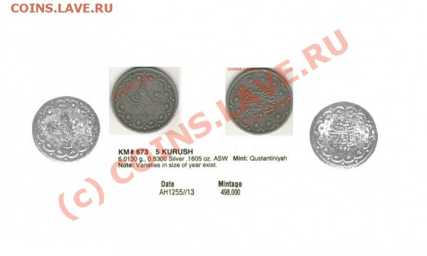 Турция 20 курушей 1854(?) - на опознание и оценку - t_7__164
