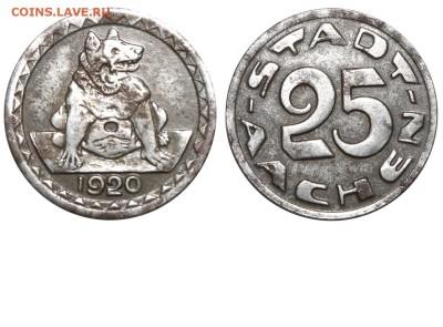 Монеты с изображением собак. - Германия - Аахен - Нотгельд - 25 пфеннигов-1920