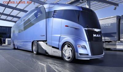 А это суперсовременный тягач, прям какой-то космический дизайн! - Современный МАН