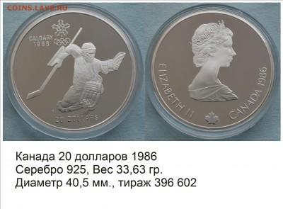 Хоккей на монетах - Канада 1986