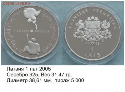 Хоккей на монетах - Латвия 2005