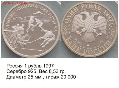 Хоккей на монетах - Россия 1997