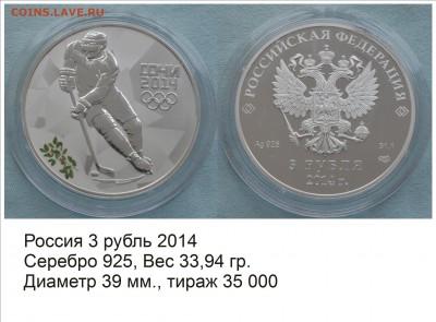 Хоккей на монетах - Россия 2014