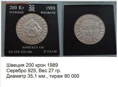 Хоккей на монетах - Швеция 1989
